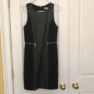 Michael Kors Leather Paneled Dress